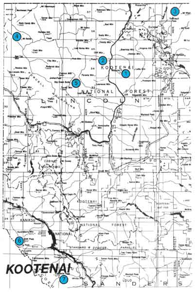 Kootenai National Forest Lookouts Cabins - Us forest service maps montana