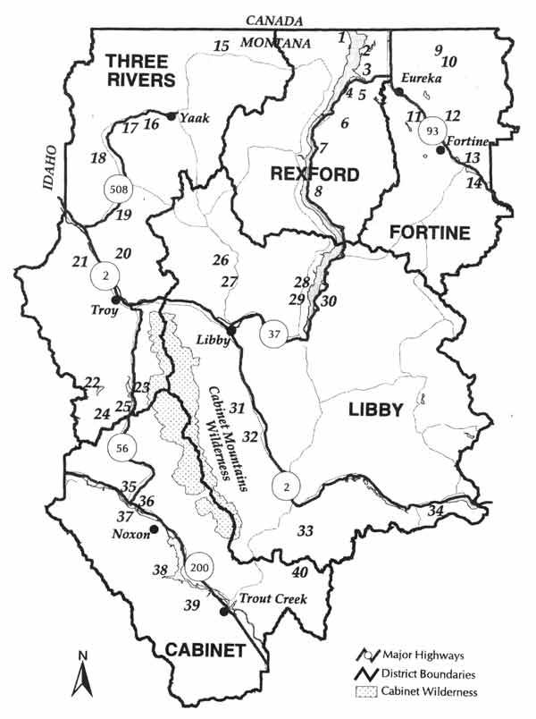 Kootenai National Forest Libby Montana - Us forest service maps montana