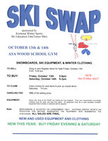 Ski & Snowboard Swap Oct 13 & 14 at Asa Wood Gym in Libby.