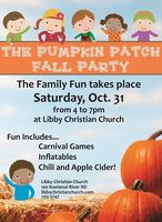 The Pumpkin Patch Fall Party Oct. 31st
